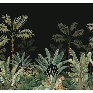 fotomural jungla negro y verde grisáceo de ESTA home