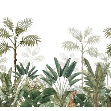 fotomural jungla blanco y verde oliva agrisado de ESTA home