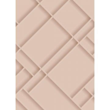 fotomural paneles de pared rosa suave de ESTA home