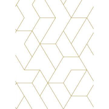 fotomural líneas gráficas blanco y oro de ESTA home