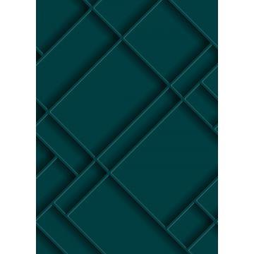 fotomural paneles de pared azul petroleo de ESTA home