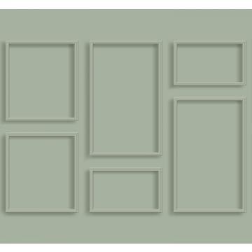 fotomural lambris verde grisáceo de ESTA home