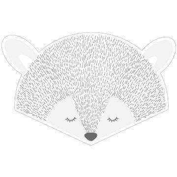 mural decorativo autoadhesivo cabezas de animales gris claro de ESTA home