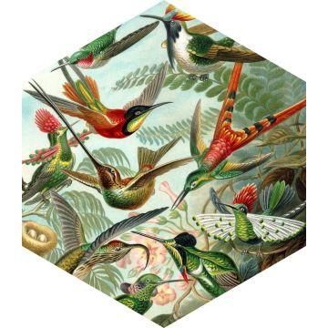 mural decorativo autoadhesivo pájaros verde selva tropical de ESTA home