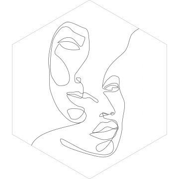 mural decorativo autoadhesivo caras blanco y negro de ESTA home