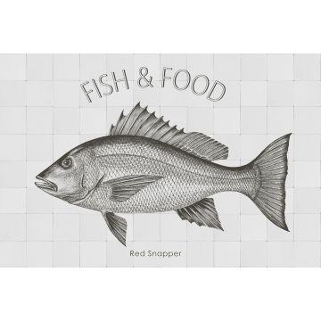 mural decorativo autoadhesivo pez negro de ESTA home