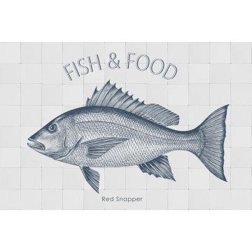 mural decorativo autoadhesivo pez azul de ESTA home