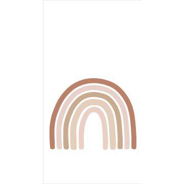 fotomural arcoíris rojo barro cocido, rosa suave y beige de ESTA home