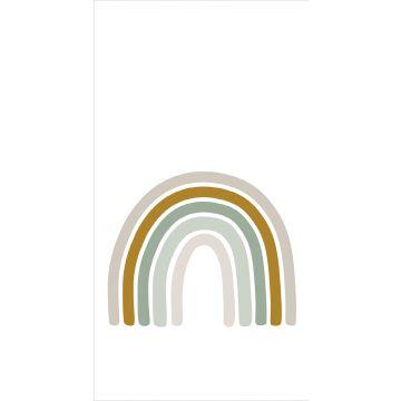 fotomural arcoíris verde grisáceo, amarillo ocre y beige de ESTA home
