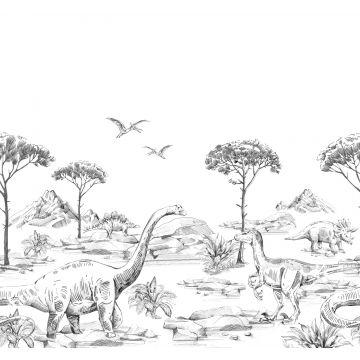 fotomural dinosaurios blanco y negro de ESTA home