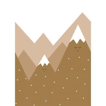 fotomural montañas amarillo ocre de ESTA home