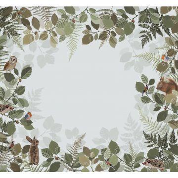 fotomural animales del bosque verde y marrón de ESTA home