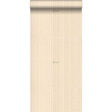 papel pintado rayas finas beige champán de Origin