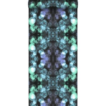 papel pintado calidoscopio azul claro y morado lila de Origin