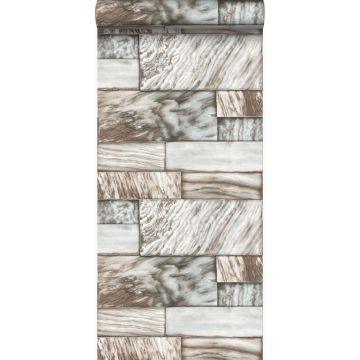 papel pintado piedras de mármol marrón claro de Origin