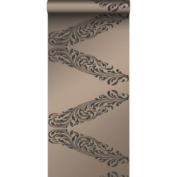 papel pintado adorno bronce brillante y marrón de Origin
