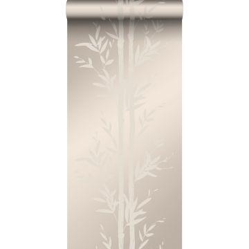 papel pintado bamboo plata cálido de Origin