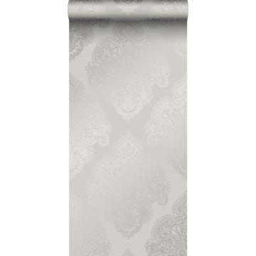 papel pintado adorno gris pardo de Origin