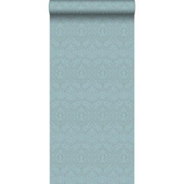 papel pintado adorno azul hielo de Origin