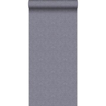 papel pintado adorno morado y gris de Origin