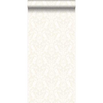 papel pintado adorno plata y blanco de Origin
