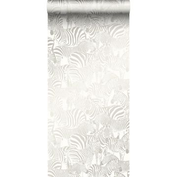 papel pintado cebras plata de Origin