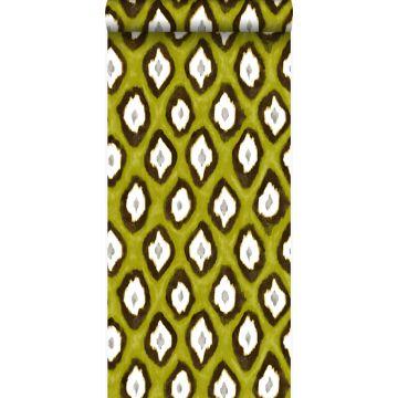 papel pintado ikat amarillo ocre de Origin