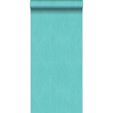 papel pintado forma gráfica turquesa de Origin
