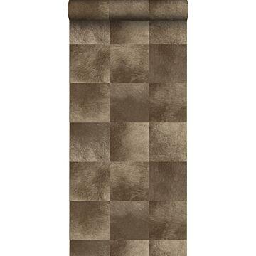 papel pintado textura de piel de animal marrón oscuro de Origin