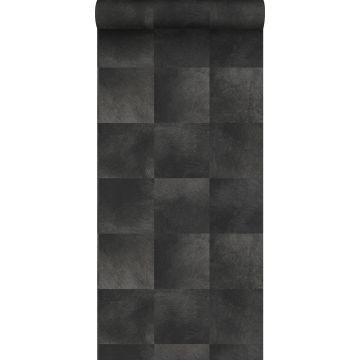 papel pintado textura de piel de animal negro oscuro de Origin