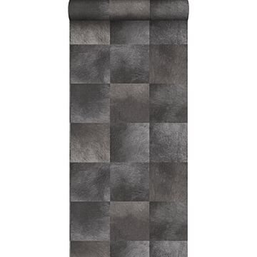 papel pintado textura de piel de animal gris oscuro de Origin