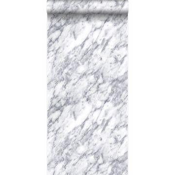 papel pintado marmol blanco marfil oscuro de Origin