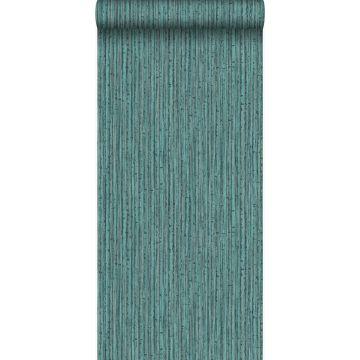 papel pintado bamboo verde mar de Origin