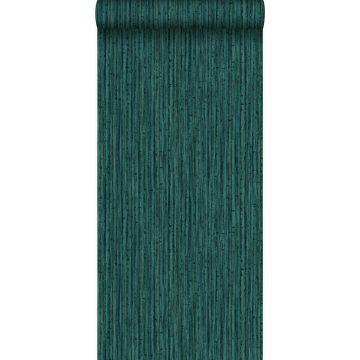 papel pintado bamboo verde esmeralda de Origin