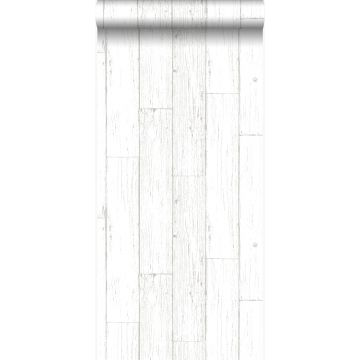 papel pintado tablas de madera de desecho recuperada desgastada resistida vintage blanco marfil de Origin