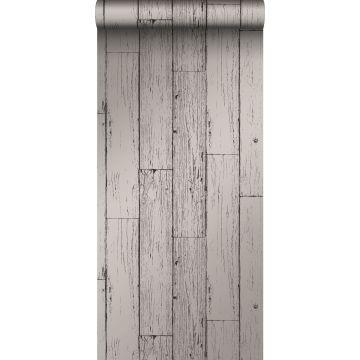 papel pintado tablas de madera de desecho recuperada desgastada resistida vintage gris oscuro de Origin