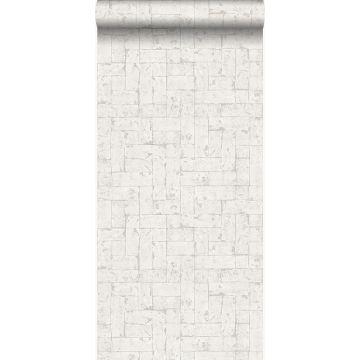 papel pintado pared de ladrillos blanquecino de Origin