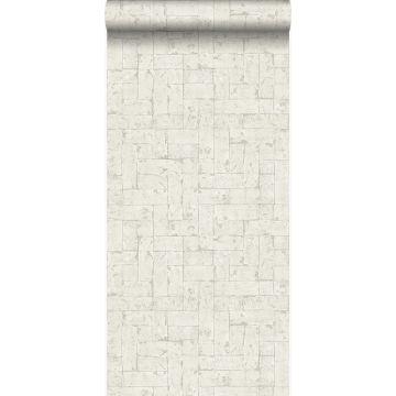 papel pintado pared de ladrillos beige claro de Origin