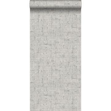 papel pintado pared de ladrillos gris claro de Origin