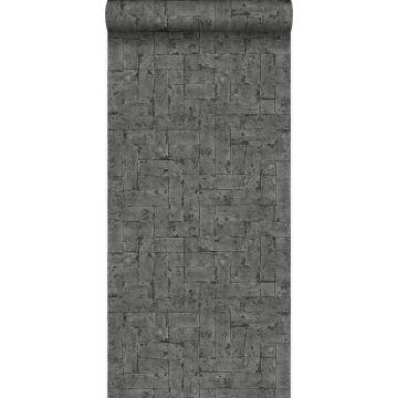 papel pintado pared de ladrillos negro de Origin