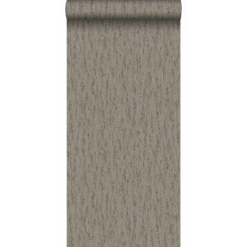 papel pintado piedra natural travertino marrón de Origin