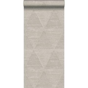 papel pintado triángulos de metal desgastado, alterado y resistido plata cálido de Origin