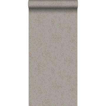 papel pintado placa de metal corroída desgastada, alterada y resistida gris pardo de Origin