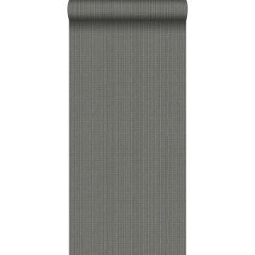 papel pintado estructura tejida gris pizarra de Origin