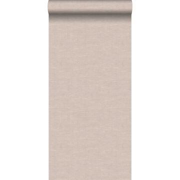 papel pintado efecto lino marrón claro de Origin