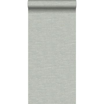 papel pintado efecto lino gris azulado de Origin