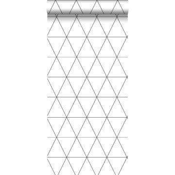 papel pintado triángulos gráficos blanco y negro de Origin