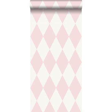 papel pintado rombo rosa brillante de Origin