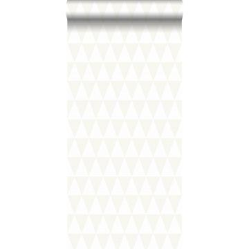 papel pintado triángulos gráficos blanco brillante de Origin