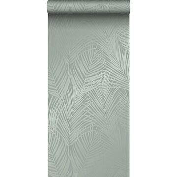 papel pintado hojas de palmera verde grisáceo de Origin